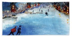 Winter In The Netherlands Beach Towel