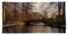 Beach Towel featuring the photograph Winter In The Park- 365-277 by Inge Riis McDonald