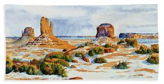 Winter In The Valley Beach Towel