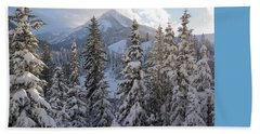 Winter In The Wasatch Beach Towel