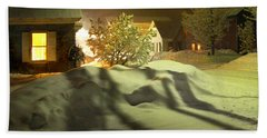 Winter In Vermont Beach Towel by Nancy Griswold