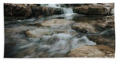 Winter Inthe Falls Beach Towel by Iris Greenwell