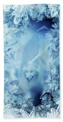 Winter Is Here - Jon Snow And Ghost - Game Of Thrones Beach Towel by Lilia D