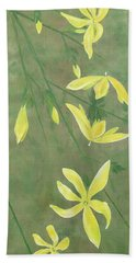 Winter Jasmine Beach Sheet by Barbara Moignard