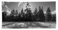 Winter Landscape - 365-317 Beach Towel by Inge Riis McDonald
