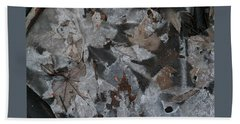 Winter Leaf Abstract-i Beach Sheet by Patricia Overmoyer