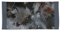 Winter Leaf Abstract-ii Beach Towel