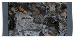 Winter Leaf Abstract-iii Beach Towel