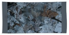 Winter Leaf Abstract-v Beach Towel by Patricia Overmoyer