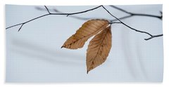 Winter Leaves Beach Sheet