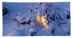 Winter Light Beach Sheet