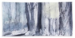 Beach Towel featuring the painting Winter Light by Robin Maria Pedrero