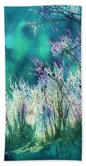 Winter Lights Beach Sheet by Kathy Bassett