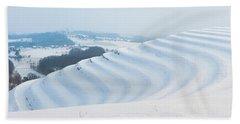 Winter Lines Beach Sheet
