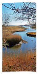 Winter Marsh Beach Towel