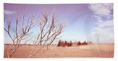 Beach Towel featuring the photograph Winter Marshlands by Colleen Kammerer