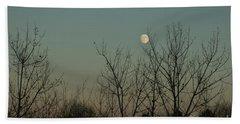 Beach Towel featuring the photograph Winter Moon by Ana V Ramirez