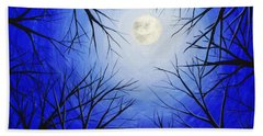 Winter Moon Beach Towel