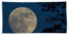 Winter Moon Beach Towel by Randy Hall