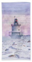 Winter Morning At Spring Point Ledge Beach Towel