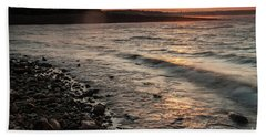 Winter Morning At The Vetran's Lake Beach Towel