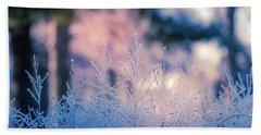 Winter Morning Light Beach Sheet