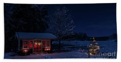 Beach Towel featuring the photograph Winter Night by Torbjorn Swenelius