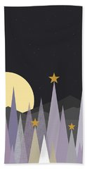 Beach Towel featuring the digital art Winter Nights - Vertical by Val Arie