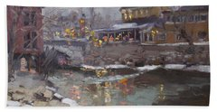 Winter Nocturne In Williamsville Beach Towel