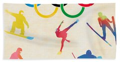 Winter Olympics Games Beach Towel