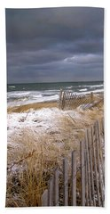 Winter On Cape Cod Beach Sheet by Charles Harden