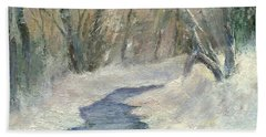 Beach Sheet featuring the painting Winter On Stormcreek by Gail Kirtz