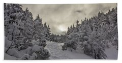 Winter On The Ammo Trail Beach Towel