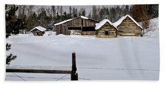 Winter On The Ranch Beach Towel