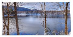 Winter On West Lake Beach Towel by David Patterson