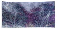 Beach Towel featuring the photograph Winter Purple by Nareeta Martin