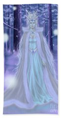 Beach Towel featuring the painting Winter Queen by Amyla Silverflame