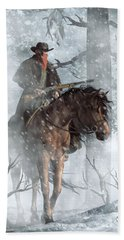 Winter Rider Beach Towel