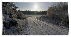 Winter Road Beach Sheet