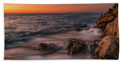 Winter Sea Beach Towel