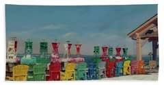 Beach Sheet featuring the painting Winter Sentries by Lynne Reichhart