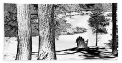 Beach Sheet featuring the photograph Winter Shadows by David Patterson
