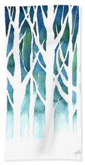 Beach Towel featuring the painting Winter Silhouette by Kristen Fox