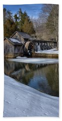 Winter Snow At Mabry Mill Beach Towel
