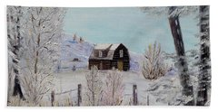 Beach Towel featuring the painting Winter Solace by Marilyn  McNish