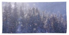 Winter Sparkle Beach Sheet by Kathy Bassett