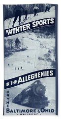 Winter Sports In The Alleghenies Beach Towel