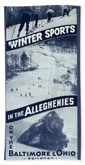 Winter Sports In The Alleghenies Beach Towel