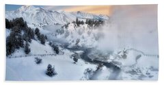 Winter Steam  Beach Towel
