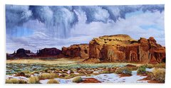 Winter Storm In Mystery Valley Beach Towel